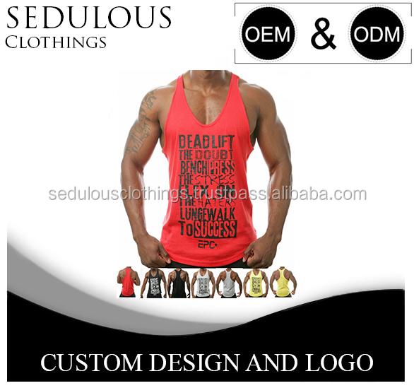 Personalizado Para Hombre Gimnasio chaleco o camiseta stringer