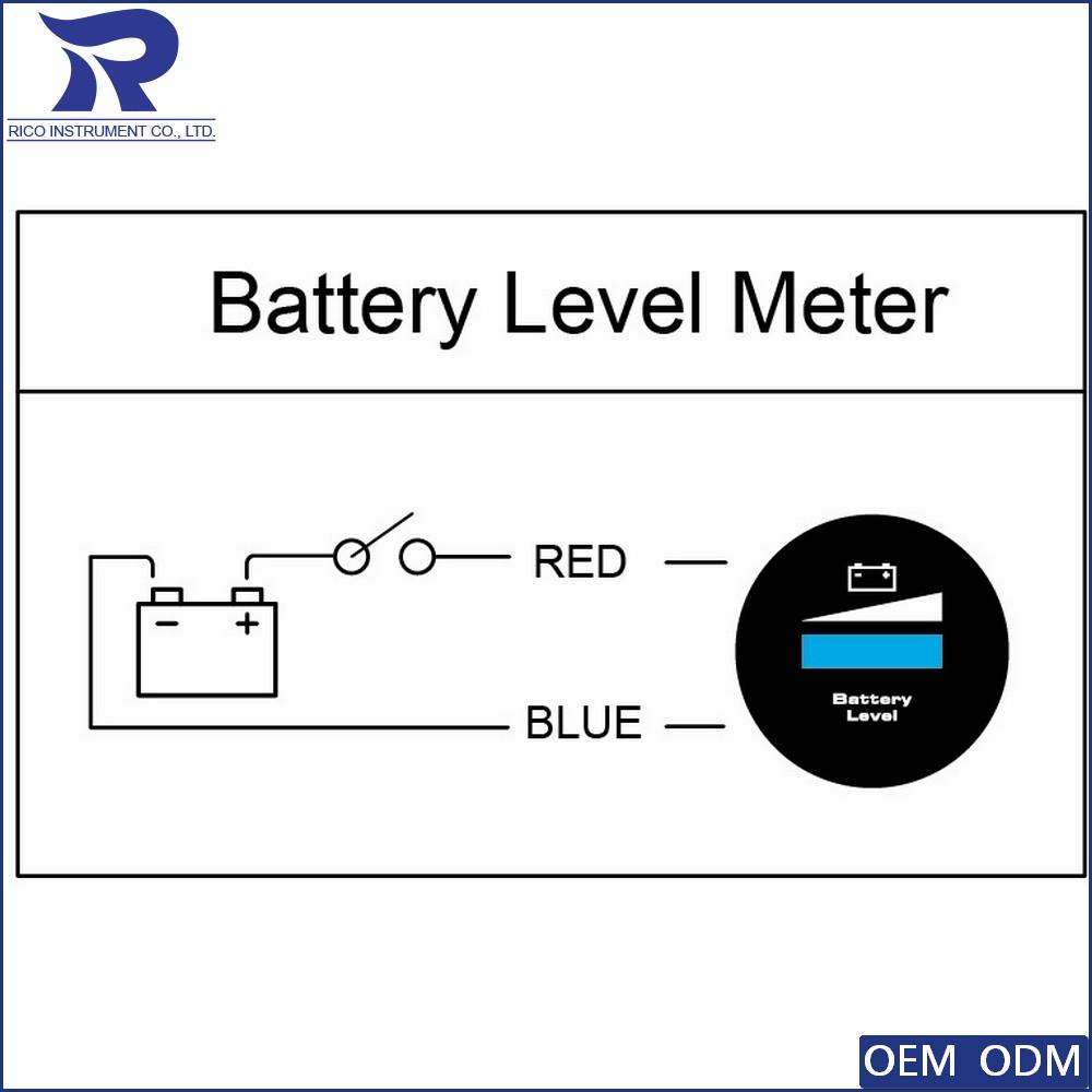 52mm Digital Marine Gauge Meter Led Waterproof Battery Level Indicator Mxsdgbl Mxs