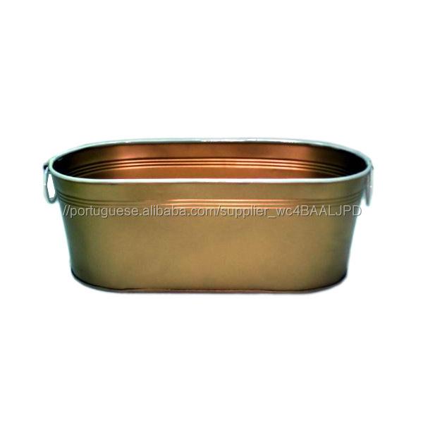 Pote Plantador de Bronze Oval