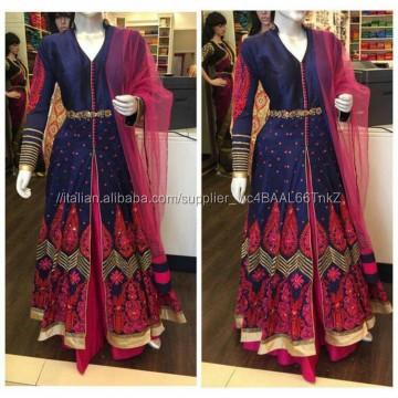 Bello e Fantasia di Moda di Bollywood Designer Stile Indo Occidentale Abiti Anarkali
