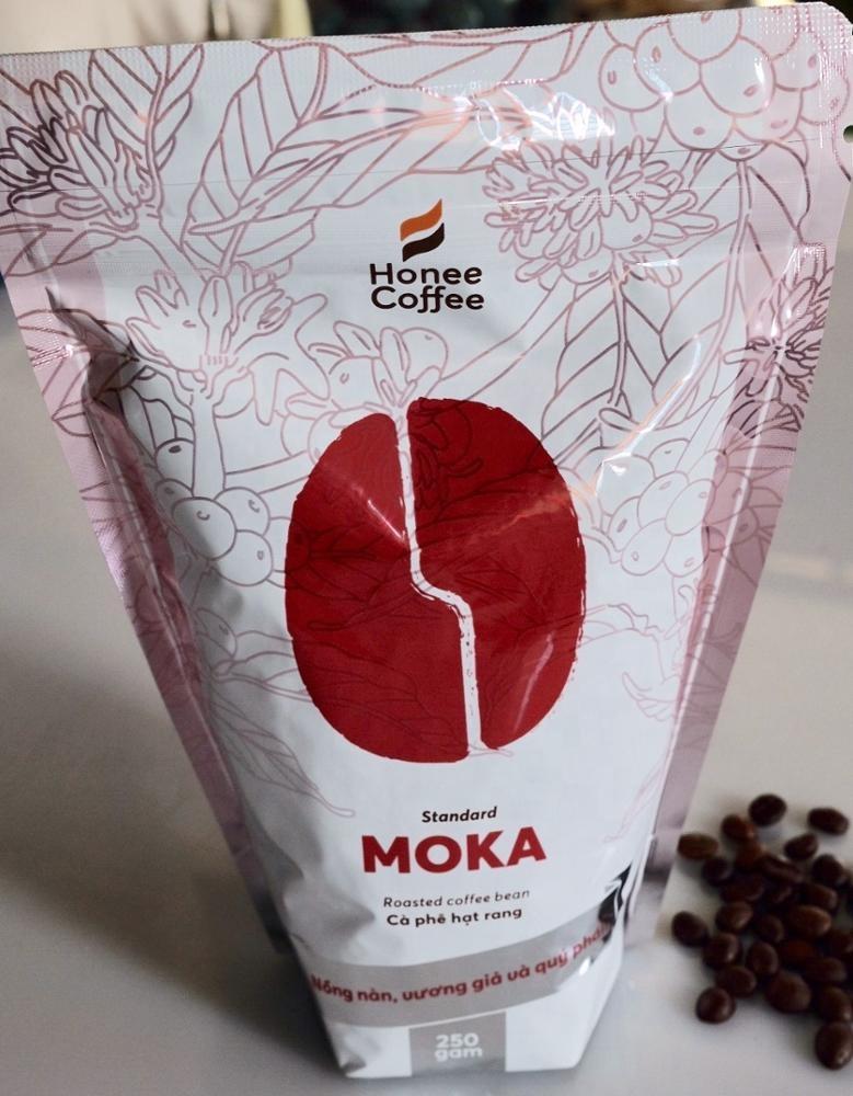 Honee コーヒー-中ロースト最高品質グルメベトナムモカ (モカ) コーヒー全体豆